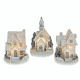 Festive Frost LED Christmas Houses. 3 Available 66710
